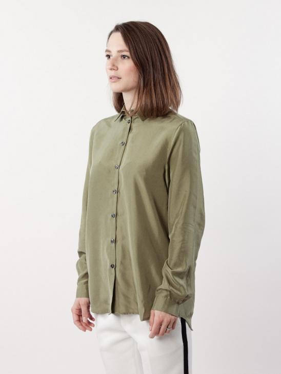 Karolina Washed Silk B Green