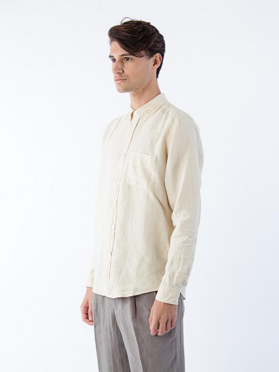 Needs Linen Shirt Pale Yellow