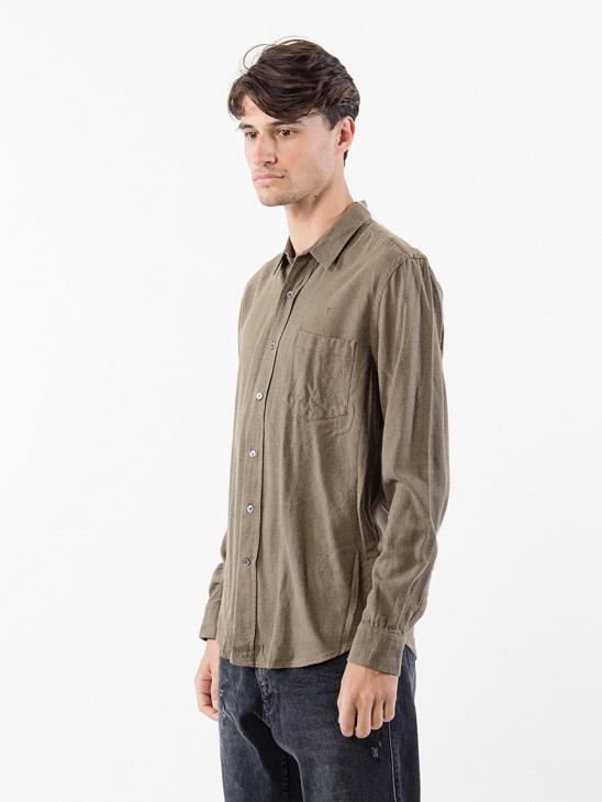 Classic Shirt DK Olive Silk